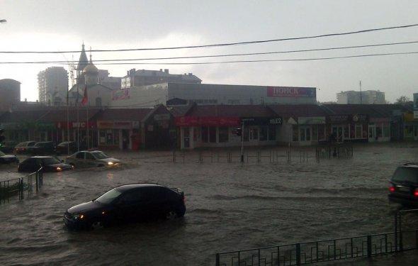Анапу затопило дождями
